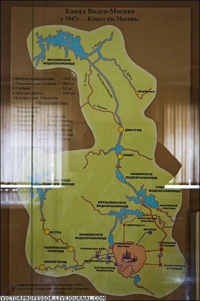 Схема канала им. Москвы.